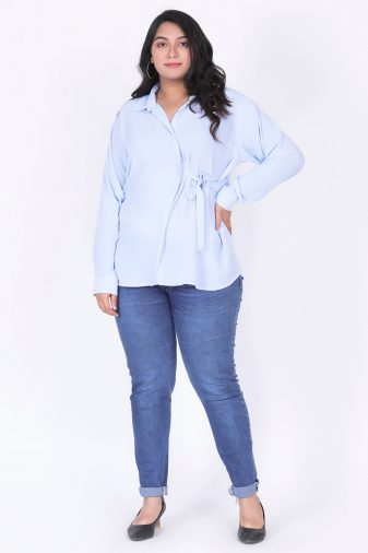 Plus Size light blue top