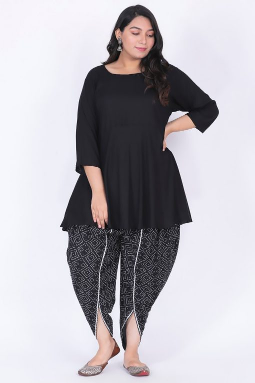 Plus Size kurta with dhoti pants