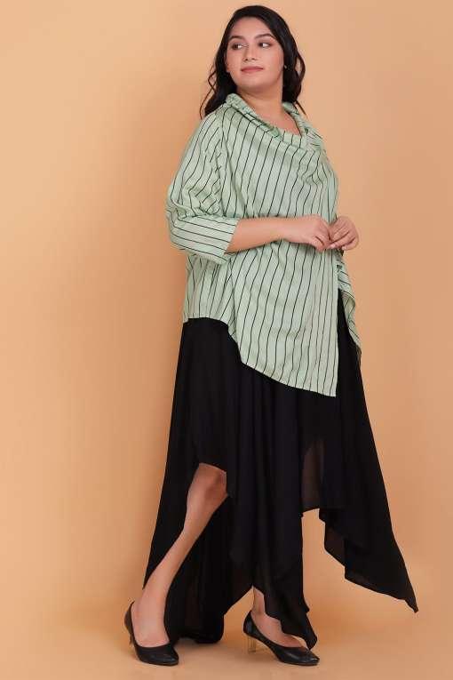 Plus Size maxi dress with cowl shrug