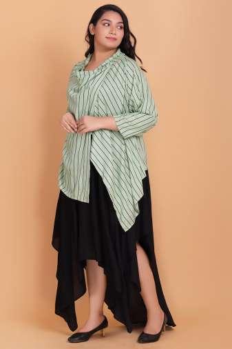 Midi dress with shrug