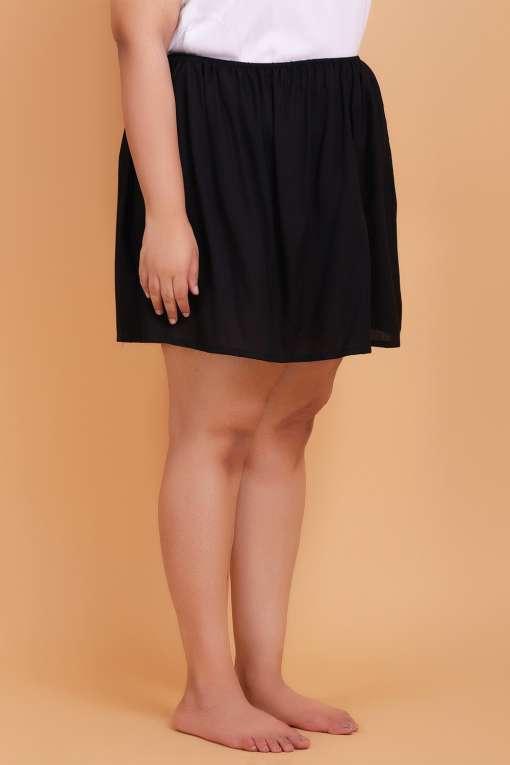 Plus size slip skirt